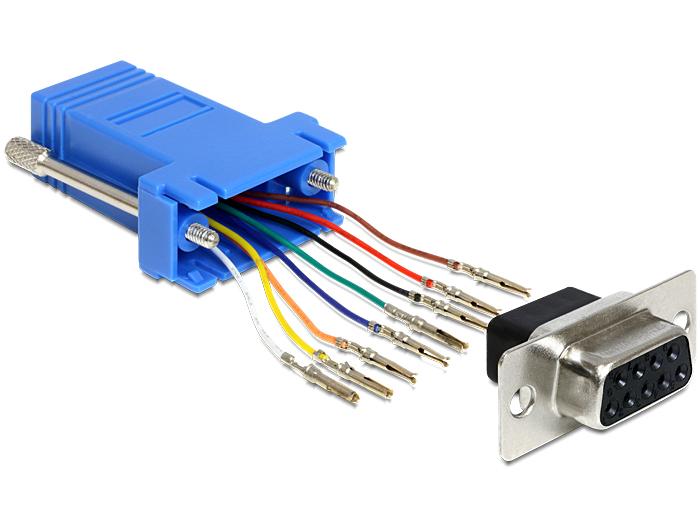 Tragant Produkte 65430 Delock Adapter Sub-D 9 Pin Buchse > RJ45 ...