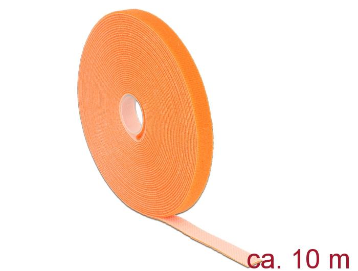 delock produkte 18744 delock klett kabelbinder l 10 m x b 13 mm rolle orange. Black Bedroom Furniture Sets. Home Design Ideas