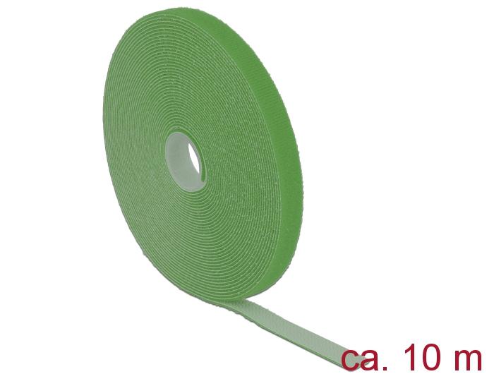 delock produkte 18728 delock klett kabelbinder l 10 m x b 13 mm rolle gr n. Black Bedroom Furniture Sets. Home Design Ideas