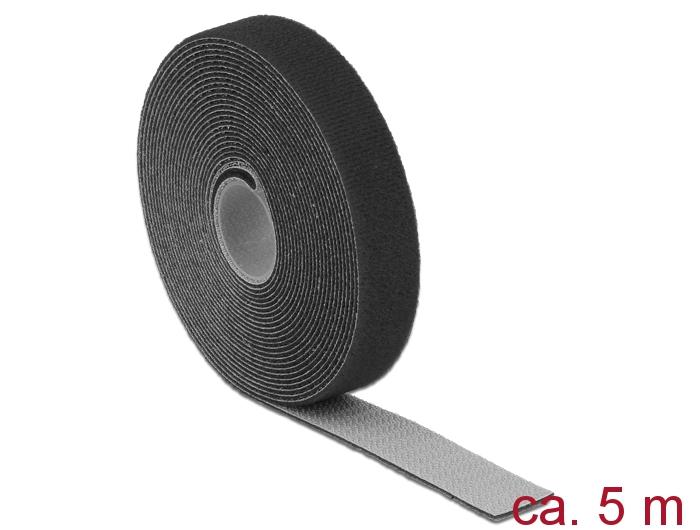 delock produkte 18715 delock klett kabelbinder l 5 m x b 20 mm rolle schwarz. Black Bedroom Furniture Sets. Home Design Ideas